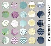 vector set of 25 round label... | Shutterstock .eps vector #667027837