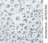 vector modern mechanism... | Shutterstock .eps vector #667031581