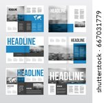 magazine or catalog template... | Shutterstock .eps vector #667031779