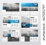 magazine or catalog template... | Shutterstock .eps vector #667031797