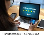 online reviews evaluation time... | Shutterstock . vector #667033165