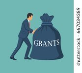 grant funding  business concept.... | Shutterstock .eps vector #667034389