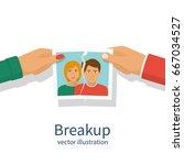 break up. crisis relationship... | Shutterstock .eps vector #667034527