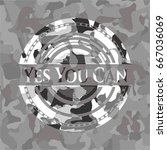 yes you can on grey camo pattern | Shutterstock .eps vector #667036069
