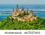 view of hohenzollern castle in... | Shutterstock . vector #667037641