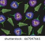 trendy seamless floral pattern... | Shutterstock .eps vector #667047661