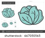 white cabbage vector line icon... | Shutterstock .eps vector #667050565