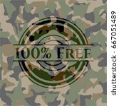 100  free on camouflaged pattern | Shutterstock .eps vector #667051489