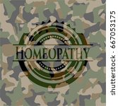 homeopathy on camo pattern | Shutterstock .eps vector #667053175