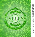 useless green emblem. mosaic... | Shutterstock .eps vector #667058509