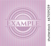 example realistic pink emblem | Shutterstock .eps vector #667059259