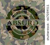 absurd on camouflaged pattern | Shutterstock .eps vector #667059511