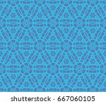 geometric shape abstract vector ... | Shutterstock .eps vector #667060105