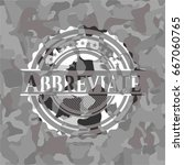 abbreviate on grey camouflage... | Shutterstock .eps vector #667060765