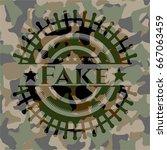 fake camouflage emblem | Shutterstock .eps vector #667063459