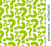 seamless question pattern...   Shutterstock .eps vector #667064269