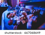beautifully decorated catering... | Shutterstock . vector #667068649