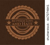 between love and hate realistic ... | Shutterstock .eps vector #667074841