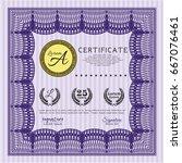 violet certificate of... | Shutterstock .eps vector #667076461