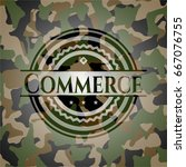commerce on camouflage pattern | Shutterstock .eps vector #667076755
