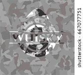 whisky on grey camo pattern | Shutterstock .eps vector #667077751