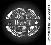 best on grey camo texture | Shutterstock .eps vector #667080595
