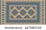 colorful oriental mosaic... | Shutterstock .eps vector #667085134