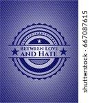 between love and hate emblem... | Shutterstock .eps vector #667087615