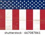 wooden planks painted us flag   Shutterstock . vector #667087861