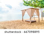 empty beautiful pavilion on... | Shutterstock . vector #667098895