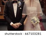 just married | Shutterstock . vector #667103281