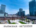 tokyo japan cityscape in the... | Shutterstock . vector #667103509