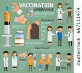 vaccination concept... | Shutterstock .eps vector #667111474
