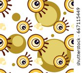 pattern eye graphic cartoon... | Shutterstock .eps vector #667115449