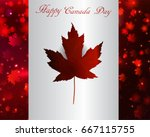 happy canada day background... | Shutterstock .eps vector #667115755