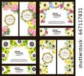 vintage delicate invitation... | Shutterstock .eps vector #667117831