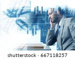 competition and strategy in... | Shutterstock . vector #667118257