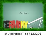 a frame of grass with the word... | Shutterstock .eps vector #667123201