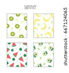 summer pattern illustration | Shutterstock .eps vector #667124065