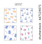 summer pattern illustration | Shutterstock .eps vector #667124071