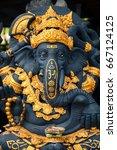 hindu god ganesha. ganesha idol. | Shutterstock . vector #667124125