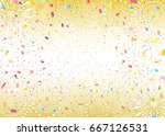 confetti and fireworks... | Shutterstock .eps vector #667126531