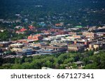 downtown boulder  colorado on a ... | Shutterstock . vector #667127341
