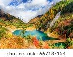 amazing view of the upper...   Shutterstock . vector #667137154