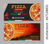 two horizontal vector flyers... | Shutterstock .eps vector #667138831