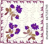 wedding card or invitation...   Shutterstock .eps vector #667152745