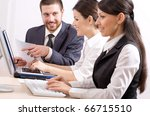group of business people in a... | Shutterstock . vector #66715510