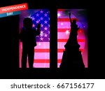 independence day united states. ... | Shutterstock .eps vector #667156177