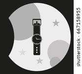 flat watch illustration. | Shutterstock .eps vector #667158955