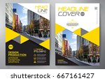 business brochure. flyer design.... | Shutterstock .eps vector #667161427